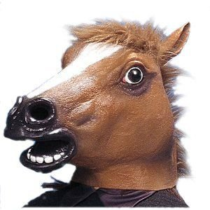 コスプレ ヘッドマスク サラブレット 馬 ウマ