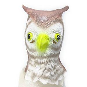 コスプレ フクロウ 梟 鳥 フルヘッドマスク