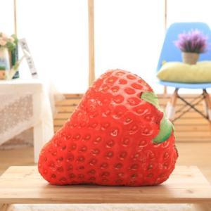 クッション リアル 食品 果物 フルーツ (イチゴ)...