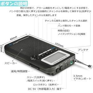 ZHIWHIS エアバンド受信機 ポータブルラジオ ポケットBCLラジオ 充電式電池式 フルバンド ...