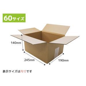 ダンボール箱(60サイズ段ボール箱・ダンボール) 245x190x140mm(NP1)(梱包 保管 引越し)