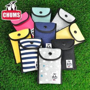 チャムス CHUMS デジカメケース スマホケース スウェット Long Snap Case Sweat メンズ レディース ch60-0728|newbag-w