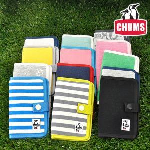 チャムス CHUMS スマホケース 携帯ケース スウェット Notebook Style Mobile Case Sweat メンズ レディース ch60-2361|newbag-w