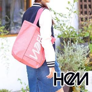 HeM!キャンバス生地を使用した縦長フォルムのトートバッグ 商品:マギー トートバッグ (39283...