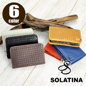 ソラチナ SOLATINA 二つ折り財布 ホースレザーメッシュ加工 sw-36092 メンズ