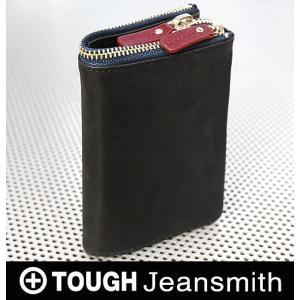 財布 メンズ 二つ折り 本革 TOUGH タフ 55475 ...