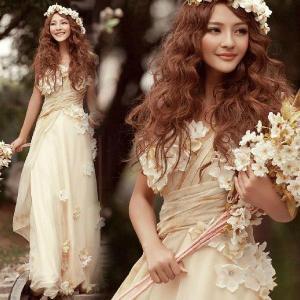 ウェディングドレス ロングドレス 二次会 ウエディングドレス 二次会ドレス パーティードレス 花嫁ドレス イブニングドレス 大きいサイズ 結婚式|newdreamjp