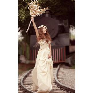 ウェディングドレス ロングドレス 二次会 ウエディングドレス 二次会ドレス パーティードレス 花嫁ドレス イブニングドレス 大きいサイズ 結婚式|newdreamjp|02