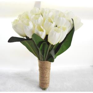 ブーケ チューリップ 演出グッズ ウェディング カクテルドレス用 ウェディングブーケ 安い 結婚式 花嫁 ブライダルブーケ 手作り キット 花束 花飾り|newdreamjp