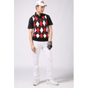 ゴルフウエア メンズ アーガイル ゴルフ ベスト ニューエディション・コットン ベスト Vネック【NewEdition GOLF】NEG-504|newedition-golf|13
