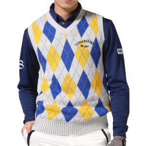 ゴルフウエア メンズ アーガイル ゴルフ ベスト ニューエディション・コットン ベスト Vネック【NewEdition GOLF】NEG-504|newedition-golf|04