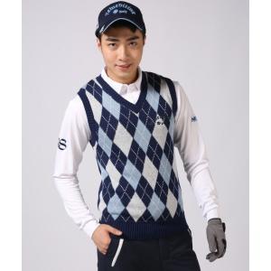 ゴルフウエア メンズ アーガイル ゴルフ ベスト ニューエディション・コットン ベスト Vネック【NewEdition GOLF】NEG-504|newedition-golf|05