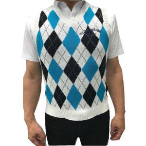 ゴルフウエア メンズ アーガイル ゴルフ ベスト ニューエディション・コットン ベスト Vネック【NewEdition GOLF】NEG-504|newedition-golf|06