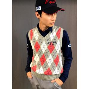 ゴルフウエア メンズ アーガイル ゴルフ ベスト ニューエディション・コットン ベスト Vネック【NewEdition GOLF】NEG-504|newedition-golf|10