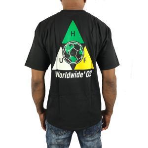 ハフ Tシャツ ワールドカップ TAKE OVER  黒 ブラック HUF 半袖 メンズ  トリプル...