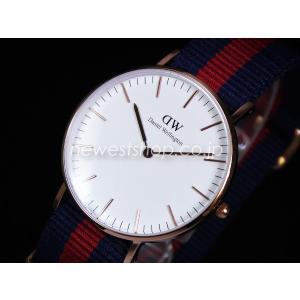 Daniel Wellington ダニエルウェリントン Classic Oxford 36mm クラシック オックスフォード 0501DW DW00100029 ホワイト×レッド×ネイビー 海外モデル 腕時計|newest