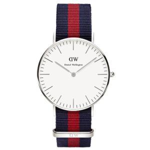 Daniel Wellington ダニエルウェリントン Classic Oxford 36mm クラシック オックスフォード 0601DW ホワイト×レッド×ブルー 海外モデル 腕時計|newest