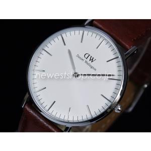 Daniel Wellington ダニエルウェリントン Classic St Mawes Lady 36mm クラシックセントモース レディー 0607DW ホワイト×ブラック 海外モデル 腕時計 即納|newest