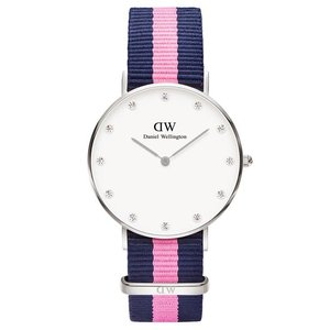 Daniel Wellington ダニエルウェリントン 34mm クラッシーウィンチェスター 0962DW オフホワイト×ネイビー×ピンク 海外モデル 腕時計 レディース|newest