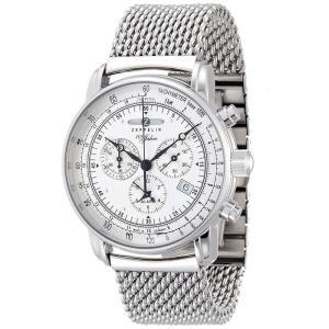 ZEPPELIN ツェッペリン SPECIAL EDITION 100 YEARS 100周年記念モデル 7680M-1 シルバー 7680M1 腕時計 メンズ|newest
