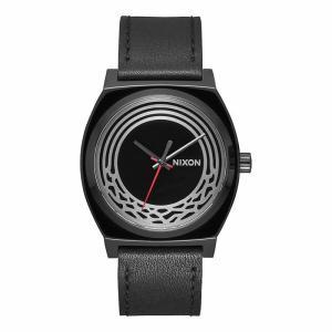 NIXON ニクソン TIME TELLER LEATHER37mm スターウォーズ タイムテラー レザー A1069SW-2444-00 ブラック 腕時計 ユニセックス 即納|newest