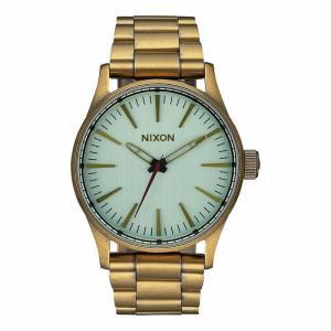 NIXON ニクソン SENTRY SS セントリー ステンレス A450-2230 グリーン×ゴールド A4502230 腕時計 ユニセックス|newest