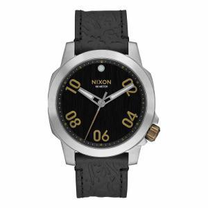 NIXON ニクソン THE SENTRY LEATHER セントリーレザー A471-2222 ブラック A4712222 腕時計 ユニセックス|newest