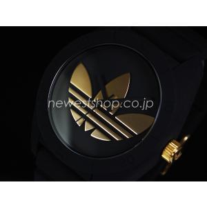 adidas アディダス SANTIAGO サンティアゴ ADH2712 ブラック×ゴールド 腕時計 即納|newest