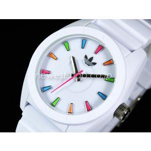 超特価!adidas アディダス SANTIAGO サンティアゴ ADH2915 ホワイト×マルチ 腕時計 送料無料 即納|newest