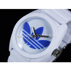 adidas アディダス SANTIAGO サンティアゴ ADH2921 ホワイト×ブルー 腕時計 送料無料 即納|newest