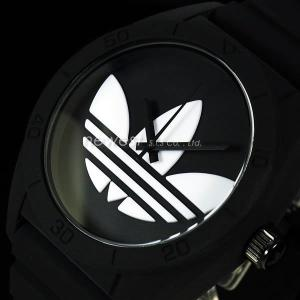adidas アディダス SANTIAGO サンティアゴ ADH6167 ブラック×ホワイト 腕時計 即納|newest