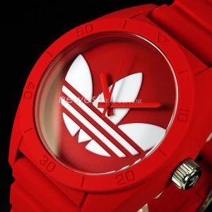 adidas アディダス SANTIAGO サンティアゴ ADH6168 レッド×ホワイト 腕時計 送料無料|newest