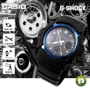 CASIO カシオ 腕時計 G-SHOCK G-ショック 電波 マルチバンド6 タフソーラー AWG-M100A-1A ブルー×ブラック 海外モデル 即納|newest