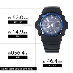 CASIO カシオ 腕時計 G-SHOCK G-ショック 電波 マルチバンド6 タフソーラー AWG-M100A-1A ブルー×ブラック 海外モデル 即納|newest|02