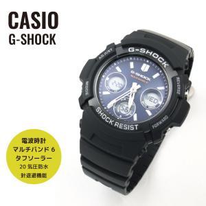 CASIO カシオ G-SHOCK Gショック 電波 マルチバンド6 タフソーラー AWG-M100SB-2A ネイビー×ブラック 海外モデル 腕時計
