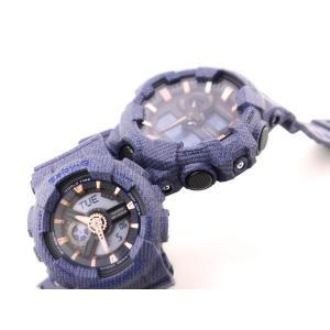 ペアウォッチ!CASIO カシオ G-SHOCK G-ショック Baby-G ベビーG GA-700DE-2A BA-110DE-2A1 デニムドカラー ネイビー 腕時計 海外モデル メンズ レディース 即納|newest