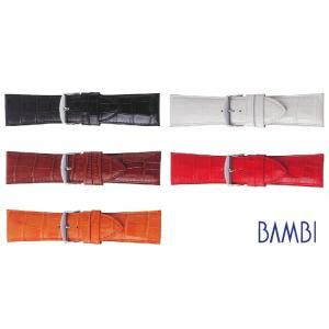 【バネ棒外し付き】BAMBI バンビ 牛革型押し BK111 22〜30mm 全5色 替えベルト メ...