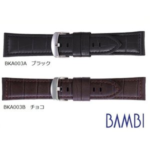 【バネ棒外し付き】BAMBI バンビ 牛革型押し BKA003 22mm、24mm 全2色 替えベル...