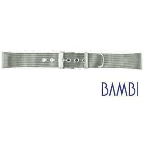 【バネ棒外し付き】BAMBI バンビ ステンレスメッシュ 尾錠タイプ BSN1222-S シルバー ...