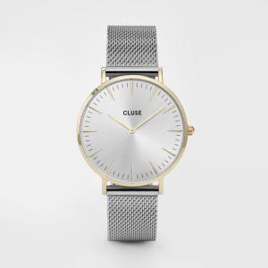 CLUSE クルース LA BOHEME MESH ラ・ボエーム メッシュ CL18115 シルバー×ゴールド 腕時計 レディース 送料無料|newest