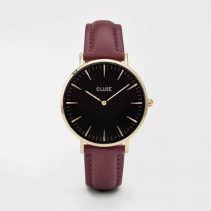 CLUSE クルース LA BOHEME GOLD ラ・ボエーム ゴールド(38mm径) CL18412 ブラック×ワイン 腕時計 レディース 送料無料|newest