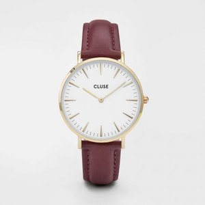 CLUSE クルース LA BOHEME GOLD ラ・ボエーム ゴールド(38mm径) CL18415 ホワイト×ワイン 腕時計 レディース 送料無料|newest