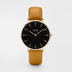 CLUSE クルース LA BOHEME GOLD ラ・ボエーム ゴールド(38mm径) CL18420 ブラック×マスタード 腕時計 レディース 送料無料|newest