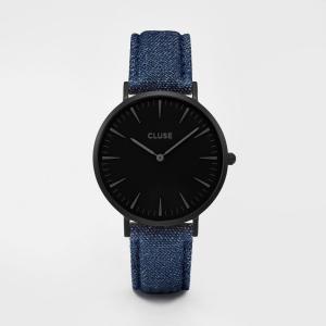 CLUSE クルース LA BOHEME ラ・ボエーム フルブラック(38mm径) CL18507 ブラック×ブルーデニム 腕時計 レディース 送料無料|newest