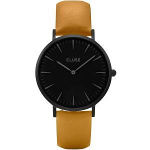 CLUSE クルース LA BOHEME ラ・ボエーム フルブラック(38mm径) CL18508 ブラック×マスタード 腕時計 レディース 送料無料|newest
