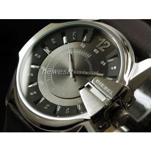 DIESEL ディーゼル 腕時計 DZ1206 グレー×シルバー/ダークブラウンレザーベルト メンズ...