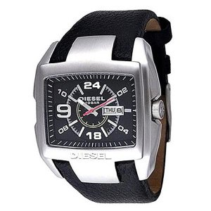 DIESEL ディーゼル 腕時計 DZ1215 ブラック×シルバー ブラック レザーベルト メンズ DZ-1215|newest