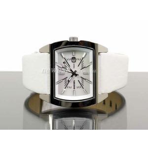 DIESEL ディーゼル 腕時計 DZ5102 ホワイト×シルバー ホワイト レザーベルト レディース DZ-5102|newest|02