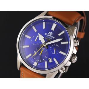 CASIO カシオ EDIFICE エディフィス EFV-510L-2A ブルー×ライトブラウン 腕時計 メンズ 即納|newest
