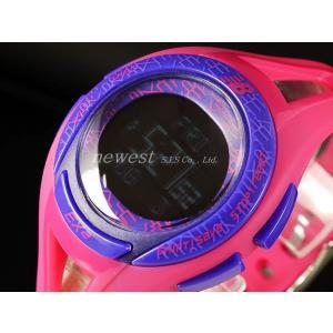 New Balance ニューバランス 腕時計 ランニングウォッチ EX2-903-005 パープル×ピンク ミドルサイズ 正規品|newest